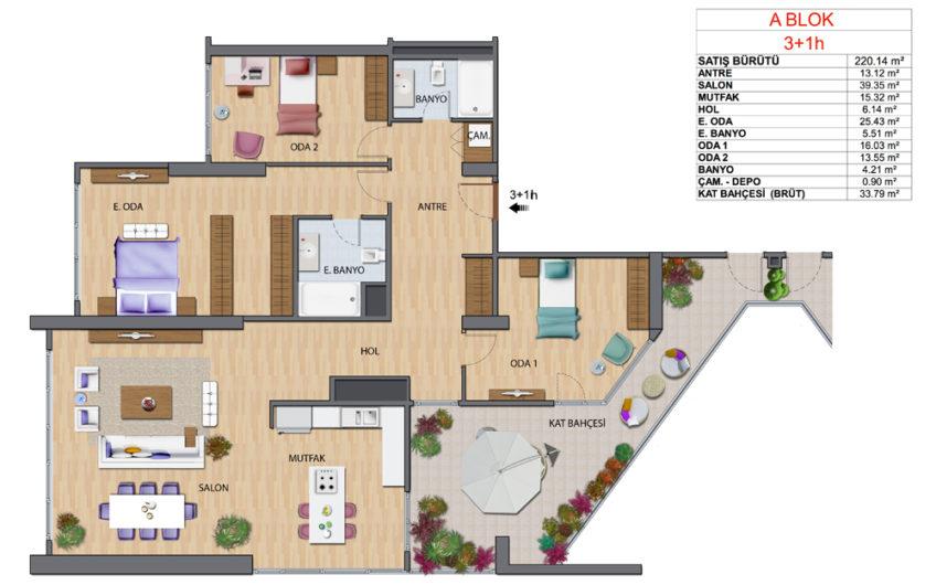 Ağaoğlu My Home Yüksek Kat Büyük Tip Satılık 3+1 Daire